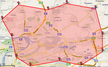 Mapa rozvoz Corleone Prosek